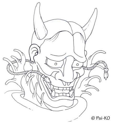 hannya mask tattoo outline hannya mask google haku inspiration pinterest