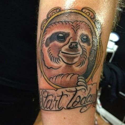 of the best sloth tattoos of all time barnorama