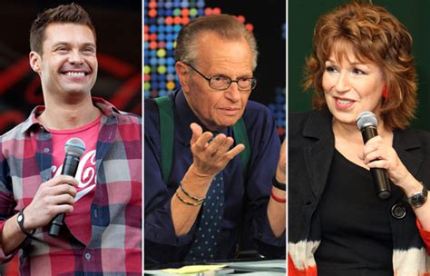 Larry King Wants Seacrest As His Successor by Behar V Seacrest Who Will Replace Larry King