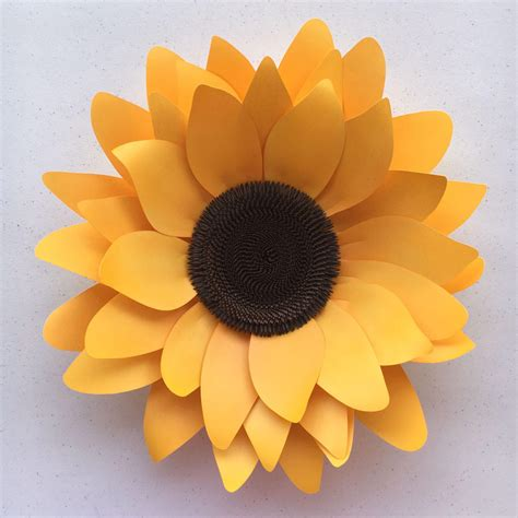 How To Make Sunflowers Out Of Tissue Paper - diy sunflower paper flower template for silhouette or cricut