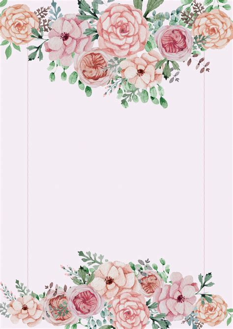 Poster Flowers by Pink Floral Wedding Poster Background Material Pink