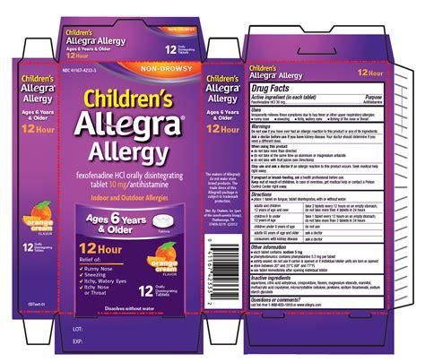 Dauky F Allecra childrens allegra allergy odt