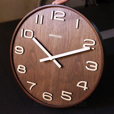 wall clock design not reflective simple design bamboo wall clock free