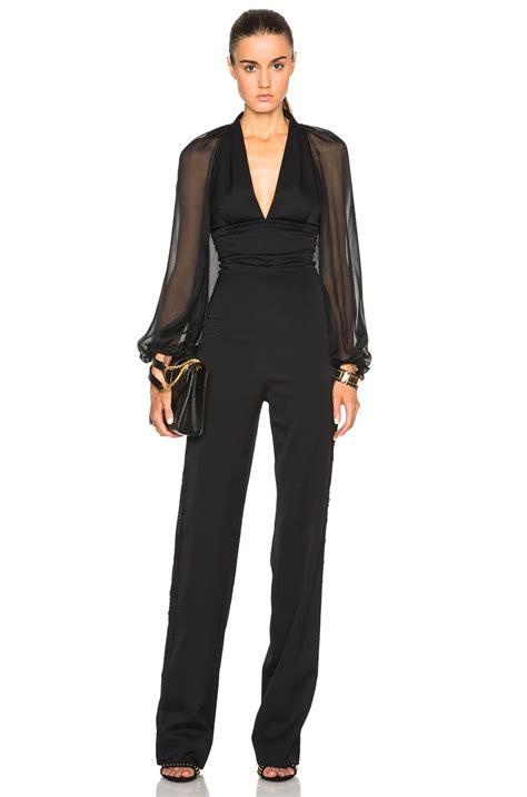 Tuxedo Romper Blackred tamara mellon tuxedo jumpsuit with chiffon sleeves in black lyst