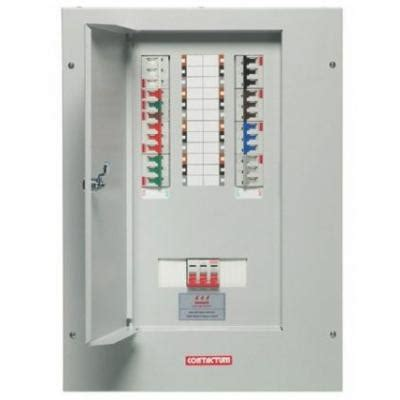 Panel Db Contactum 12 Way Tp N Distribution Board Complete With