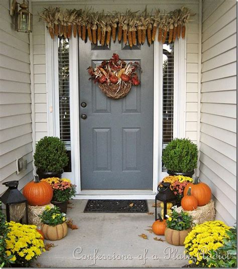 fall curb appeal ideas autumn front door decoration ideas diy projects craft