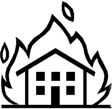 brennendes haus brennendes haus 2 ausmalbild malvorlage objekte