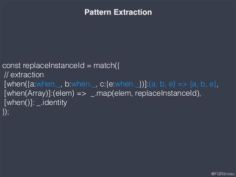 javascript pattern match array implementing pattern matching in javascript full version