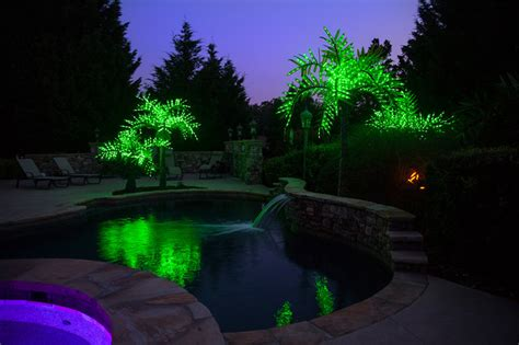 pool city christmas trees realistic led palm tree tropical pool atlanta by lights etc