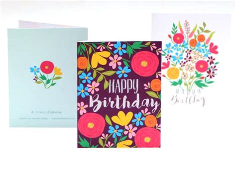 free printable birthday cards 8 5 x 11 free printable flower greeting cards a piece of rainbow