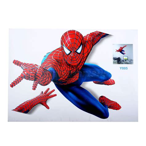Murah 3d Wall L Decoration Spyder spider wall stickers decals for nursery and room home decor 3d wall stickers