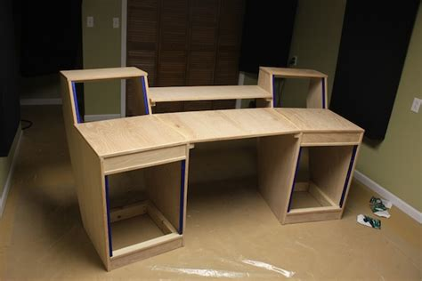 building a studio desk my diy studio desk build gearslutz com