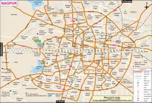 nagpur city map city map of nagpur