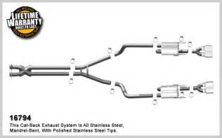 Exhaust System Add Horsepower 004 2009 Cadillac Xlr Magnaflow Cat Back Performance Exhaust