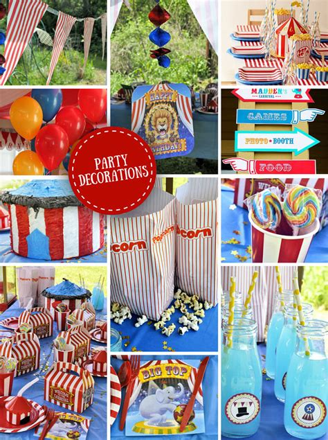 carnival themed birthday decorations carnival ideas circus ideas at birthday in a box