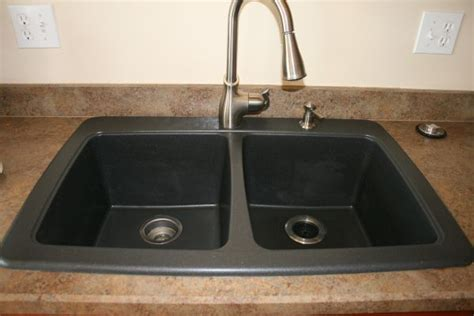 battle of the black granite composite sink whimsy gal