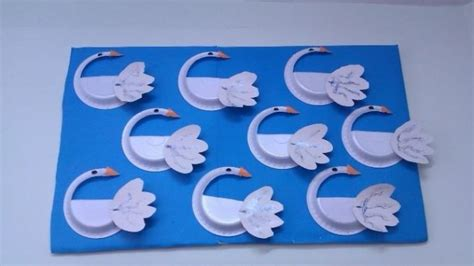 Swan Paper Craft - swan craft idea for preschoolers preschool crafts and
