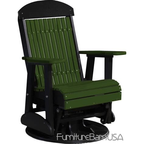 poly outdoor 2 foot highback swivel glider bench chair