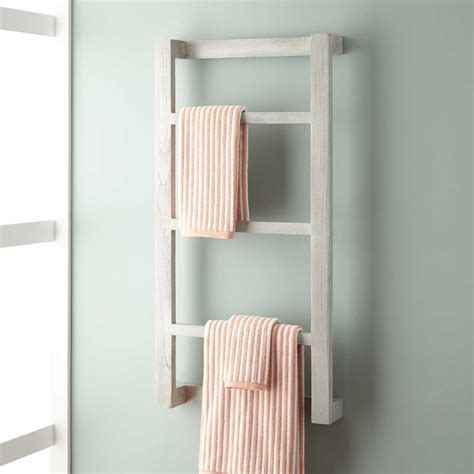 Towel Shelves For Bathrooms Wulan Teak Hanging Towel Rack Bathroom