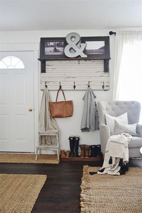 diy rustic entryway coat rack liz marie blog