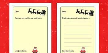 letter santa writing frames template twinkl