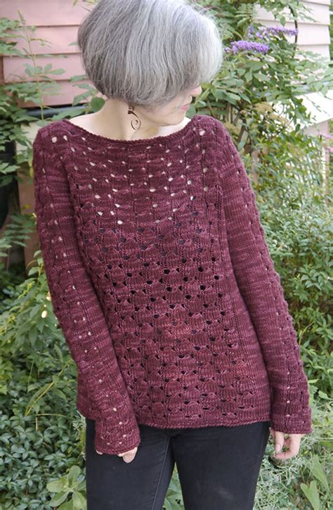 free knitted sweater patterns what a pretty lace cluster stitch in this knitted pullover