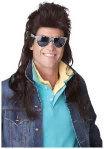 80s men s costume ideas mens 80s brown rock mullet wig funny