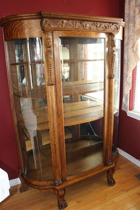 are curio cabinets out of style antique r j horner style bowed curved glass curio china