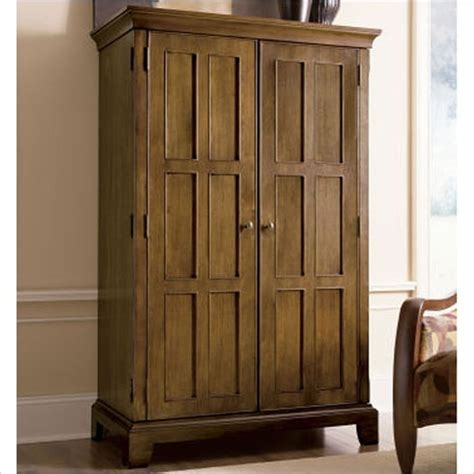 oak computer armoire riverside furniture woodland s oak computer armoire in canyon oak transitional
