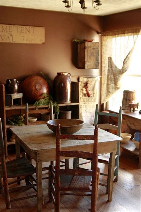Primitive Dining Room Furniture 17 Best Images About Primitive Dining Room On Pinterest Table And Chairs Early American And