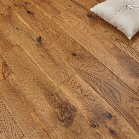 real wood flooring solid oak 120mm uv vintage hand scraped