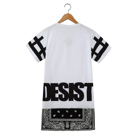 Longline Desist 2015 t shirt streetwear top cease desist side zipper