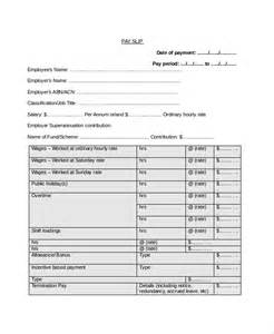 Payslip Template Free sle payslip templates 8 free documents in