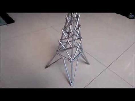 cara membuat kerajinan tangan menara eiffel cara membuat menara eiffel dari koran youtube