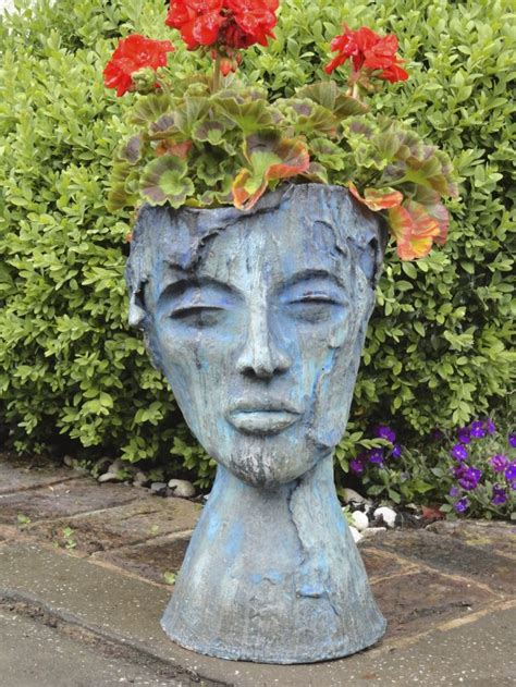 face planters garden face pot garden art ideas pinterest