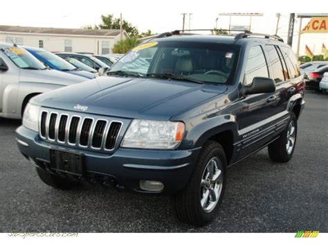 jeep grand cherokee gray 2002 jeep grand cherokee limited in steel blue pearlcoat
