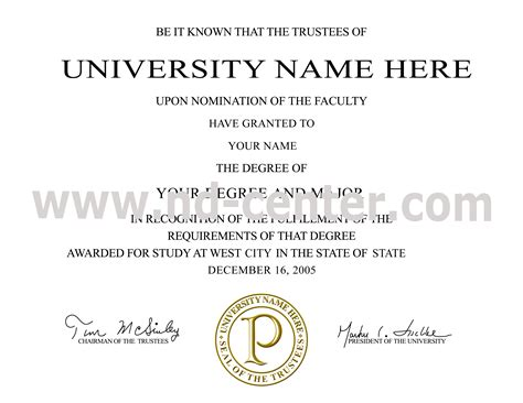 degree certificates templates college college certificate