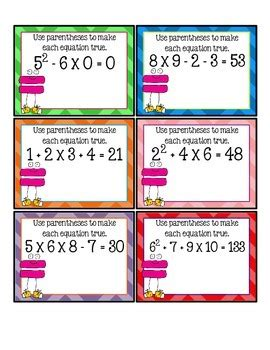 5 Oa 1 Worksheets by Freebie Order Of Operations Task Cards With Qr Codes