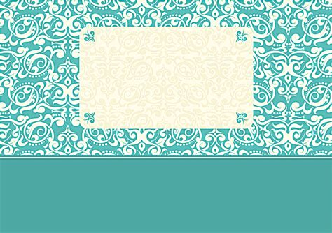 Wedding Card Design Patterns by Fresh Blue Pattern Wedding Invitation Card Design Vector