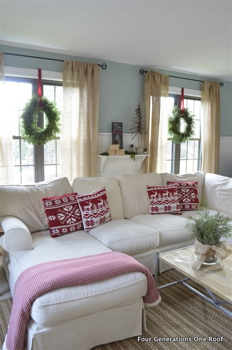 cute ideas to decorate my indoors windows for christmas the idea of hanging wreaths with ribbon inside on the windows great decorating