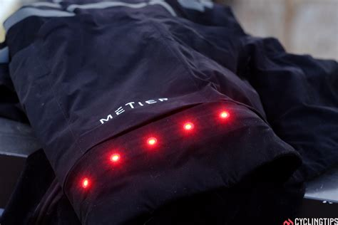 cycling jacket with lights light me up m 233 tier beacon and proviz nightrider led light