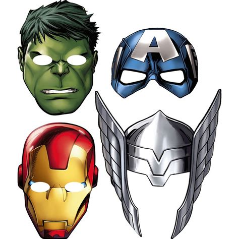 Printable Mask Avengers | free coloring pages of superhero mask to color