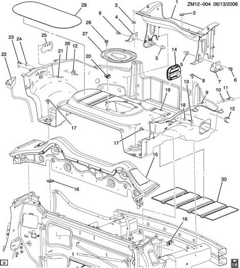 saturn sky rear compartment brace rear  panel factory oem parts