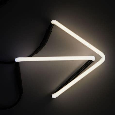 seletti neon font shaped wall light arrow buy