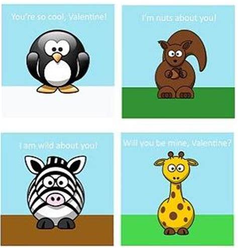 printable animal valentine cards animal valentine cards tip junkie