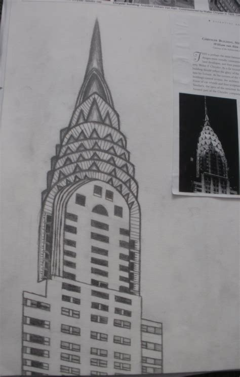 Chrysler Building Drawing by Chrysler Building Drawing Flickr Photo