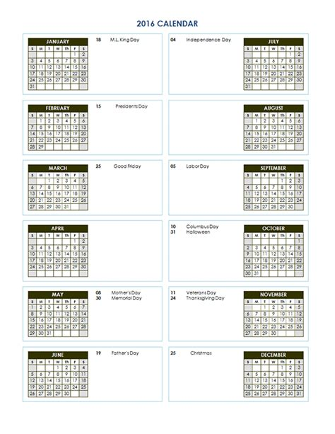 yearly calendar templates for word 2016 yearly calendar template 02 free printable templates