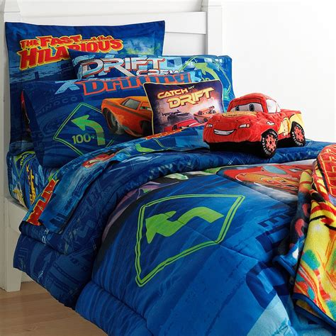 cars bedding set 5pc disney cars drift full bedding set mater double
