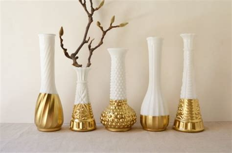 Gold Dipped Vases by Gold Dipped Glass Vases Home Decorating Diy