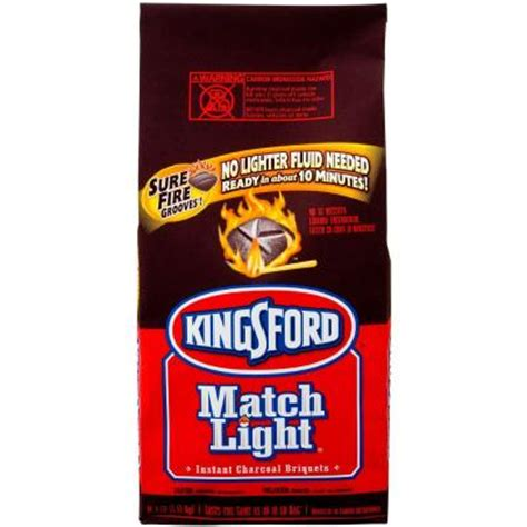 kingsford 16 6 lb match light instant charcoal briquettes